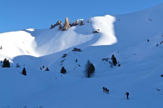 Ski de randonnée a Arvieux, casse déserte