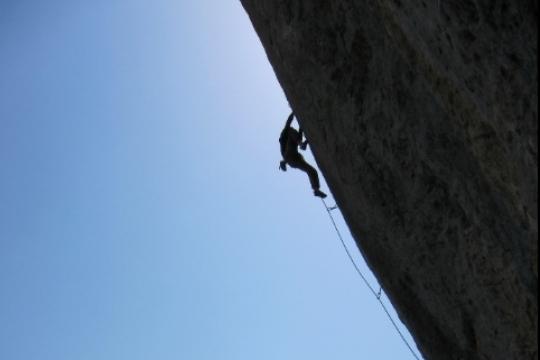 Rock climbing in Céüse berlin