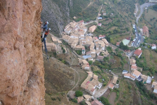 Rock climbing in Riglos