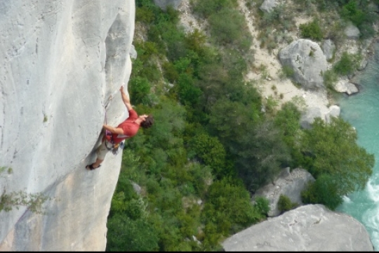 Veron delicate rock climbing