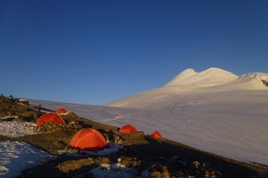 Last camp before Kasbek, Russia/Georgia