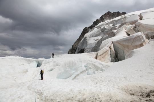 Glacier des Violettes sur la traversée du Pelvoux