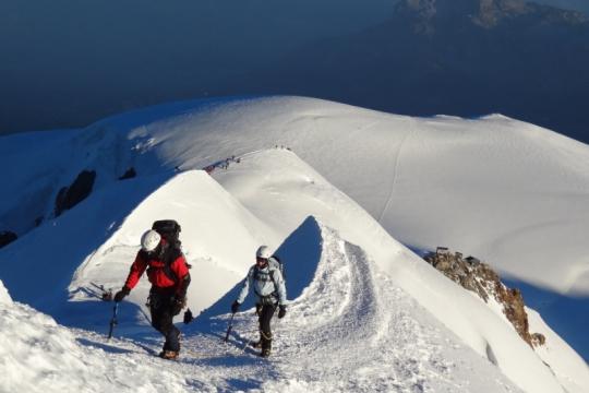 Arête des Bosses au Mont Blanc