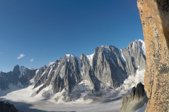 Les fameuse faces nord du glacier d'Argentière.
