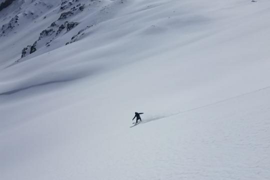 descente neige vierge Queyras