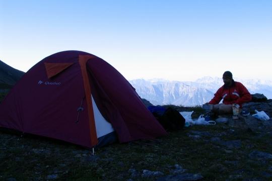 bivouac tente montagne