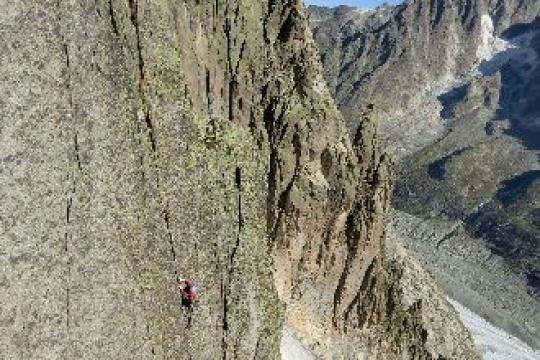 Chamonix rock climbing